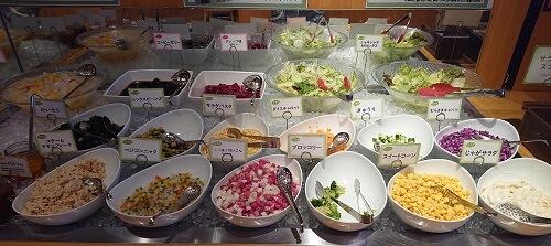 サラダのメニュー