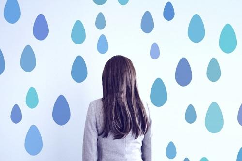 雨の日の髪の毛